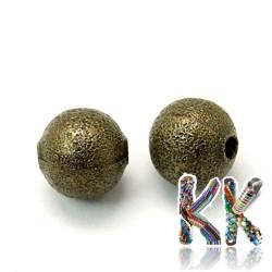 Kovové korálky s hvězdným prachem - ∅ 8 mm
