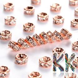 Mosazná šatonová rondelka - růžové zlato - ∅ 5 x 2,5 mm - kvalita AAA