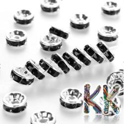 Mosazná šatonová rondelka - stříbrná - ∅ 8 x 3,5 mm - kvalita A