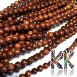 Korálky z kataloxového dřeva - ∅ 6 mm - kulička