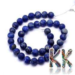 Přírodní zmatnělý lapis lazuli - ∅ 8 mm - kulička