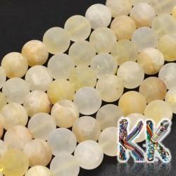 Přírodní zmatnělý citrín - ∅ 8 mm - kulička