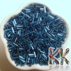 Trubičky - průhledné se stříbrnou linkou - 6 mm