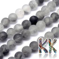 Přírodní zmatnělý šedý křemen - ∅ 8 mm - kulička