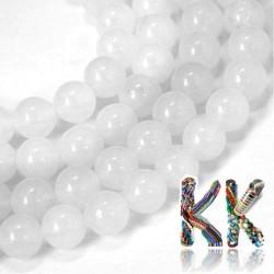 Přírodní bílý nefrit - ∅ 10 mm - kulička
