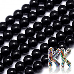 Přírodní černý turmalín - ∅ 6 mm - kulička - kvalita A