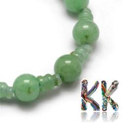 Přírodní zelený avanturín - ∅ 10 x 16,5 mm - třídírkatý a guru korálek