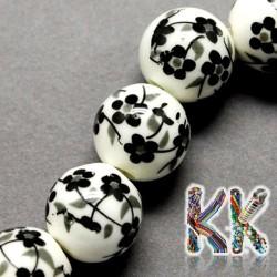 Porcelánové korálky - potištěné - ∅ 8 mm - kuličky