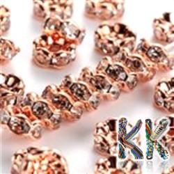 Mosazná šatonová rondelka - růžové zlato, vlnitá - ∅ 5 x 2,5 mm - kvalita AAA