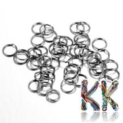 Železné spojovací kroužky - ∅ 4 mm - množství 1 g (cca 28 ks)