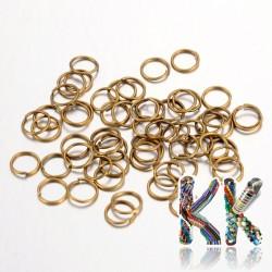 Železné spojovací kroužky - ∅ 7 mm - množství 1 g (cca 14 ks)