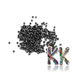 Zamačkávací rokajl soudečkovitý- ∅ 2 mm (15 ks)
