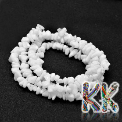 Porcelánové korálky - glazované zlomky - 8 x 5 mm - 5 g