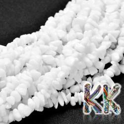 Porcelánové korálky - glazované zlomky - 8 x 5 mm - váha 5 g (cca 8,5 cm)