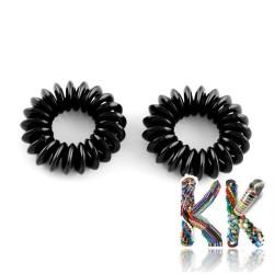 Plastové elastické gumičky do vlasů z telefonní šňůry - ∅ otočky 15 mm