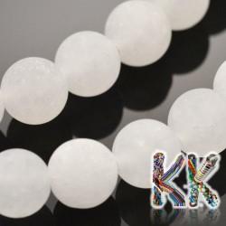Přírodní zmatnělý bílý nefrit - ∅ 8 mm - kulička
