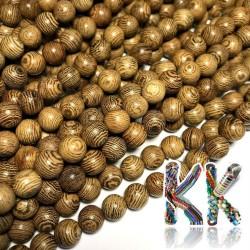 Korálky z wengového dřeva - ∅ 6 mm - kulička