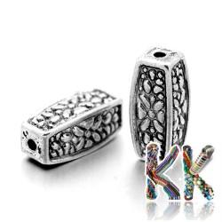 Oddělovací korálek z tibetského stříbra - kuboid - 12 x 5 x 5 mm