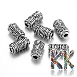 Oddělovací korálek z tibetského stříbra - váleček - ∅ 6 x 11 mm