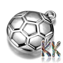 Přívěsek z 304 nerezové ocele - fotbalový míč - 15,5 x 12 x 3,5 mm