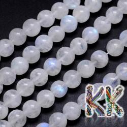 Přírodní bílý měsíční kámen - ∅ 8 mm - kulička - kvalita AA