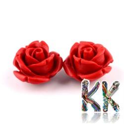 Rumělka - květinka - 10 x 10 x 8 mm