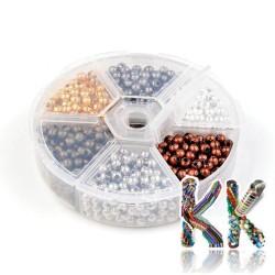 Krabička s železnými oddělovacími korálky - kuličky - ∅ 4 mm