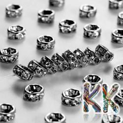 Mosazná šatonová rondelka - gunmetal - ∅ 8 x 4 mm - kvalita A