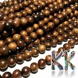 Korálky z kevazingového dřeva - ∅ 8 mm - kulička