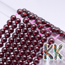 Přírodní chesapeakský granát - ∅ 4 mm - kulička - kvalita AAAA
