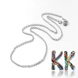 316 Nerezový náhrdelníkový řetízek s pružinkovým kroužkem - délka 70,5 cm