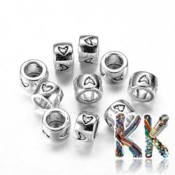Širokoprůvlekový oddělovací korálek z tibetského stříbra - trubka - ∅ 8 x 5,5 mm