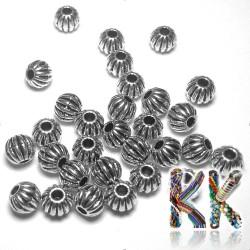 Oddělovací korálek z tibetského stříbra - dýně - ∅ 4 mm
