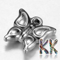 Přívěsek z 304 nerezové ocele - motýl - 14 x 12 x 3 mm