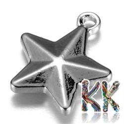 Přívěsek z 304 nerezové ocele - hvězda - 15 x 13 x 3,5 mm