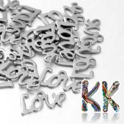 Přívěsek z 304 nerezové ocele - nápis LOVE - 12 x 6 x 1 mm