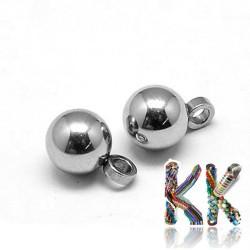 Přívěsek z 304 nerezové ocele - kulička - 7,5 x 5 mm