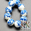 Porcelánové korálky - glazované, dekorované - ∅ 8 mm - kuličky
