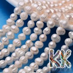Přírodní perly - ∅ 6-7 mm - oválky