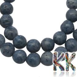 Přírodní modrý korál - ∅ 4 mm - kulička