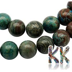 Přírodní chryzokol - ∅ 6 mm - kuličky