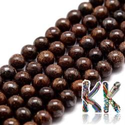 Přírodní bronzit - ∅ 6 mm - kulička