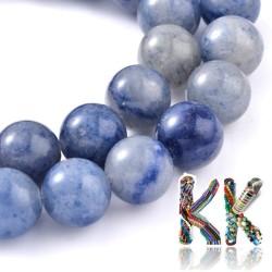 Přírodní modrý avanturín - ∅ 4 mm - kulička
