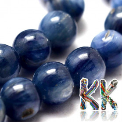 Přírodní kyanit - ∅ 4 mm - kulička - kvalita AA