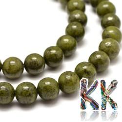 Přírodní zelený granit- ∅ 6 mm - kuličky