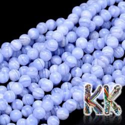Přírodní chalcedon - ∅ 4 mm - kuličky - kvalita AA