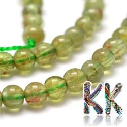 Přírodní zelený apatit - ∅ 4 mm - kuličky