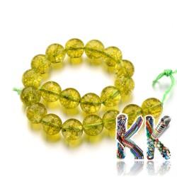 Přírodní olivín - ∅ 10 mm - kulička