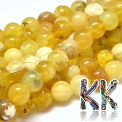 Přírodní žlutý opál - ∅ 6 mm - kulička