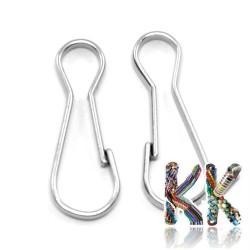 Železná klíčová karabinka - 20 x 8 x 2 mm